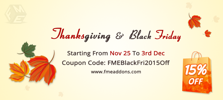 Black Friday Sale: FmeAddons Offer 15% Off On All Extensions