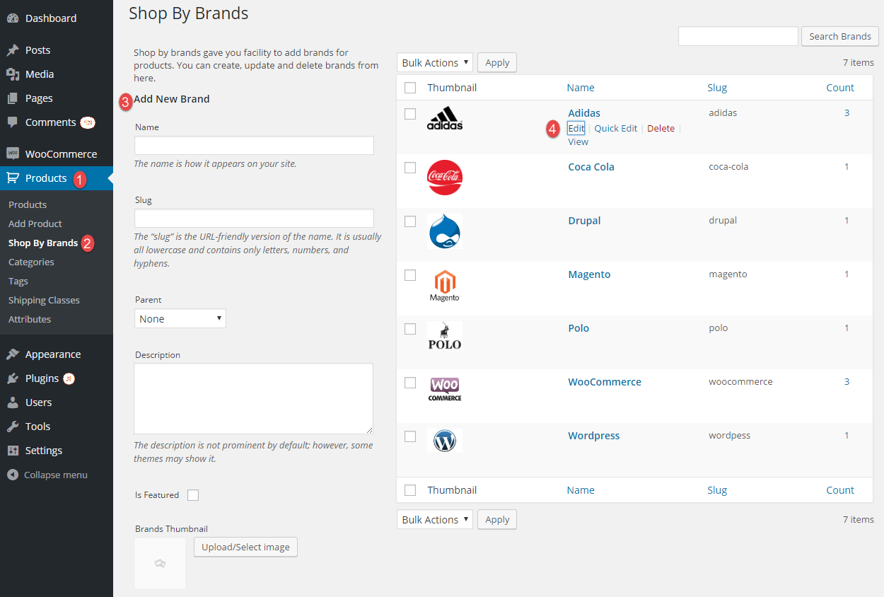 How to Create Brand Category with WooCommerce Brands Plugin