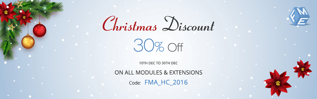Christmas Sales Offer - Save 30% on WooCommerce, Magento & Joomla Plugins