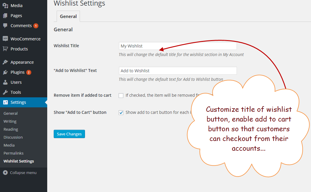 """a94a29705a192 Allows your customer to save particular items in their wishlists, which  they can buy later. Woocommerce wishlist plugin will add a button """"Add to  Wishlist"""" ..."""