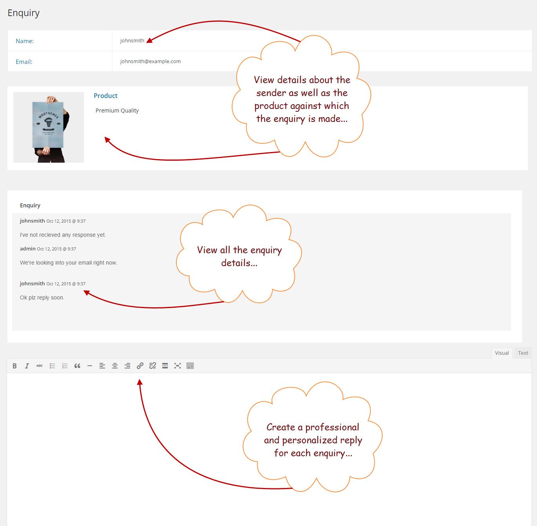 woocommerce product enquiry form wordpress contact plugin