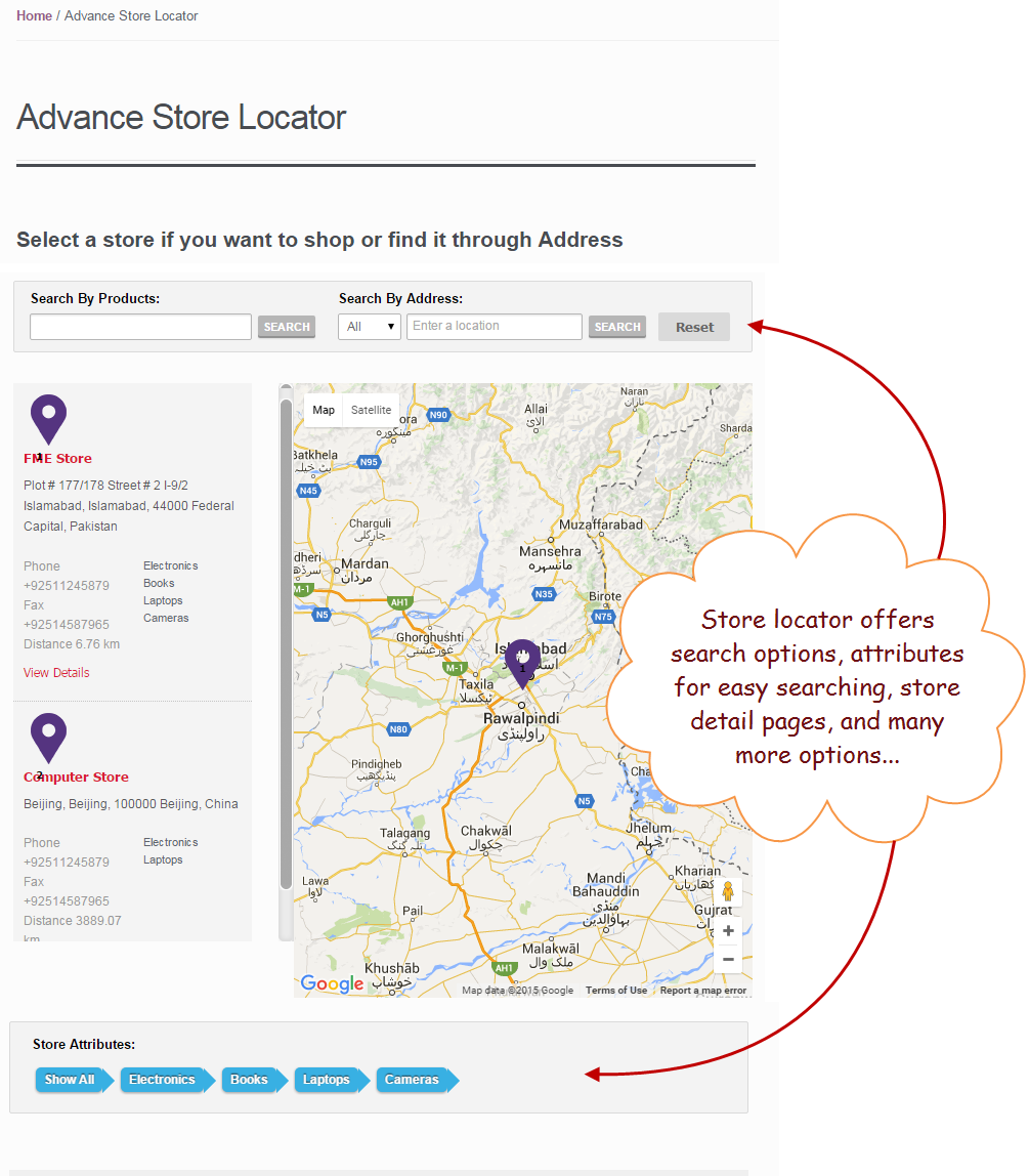 Woocomerce store locator