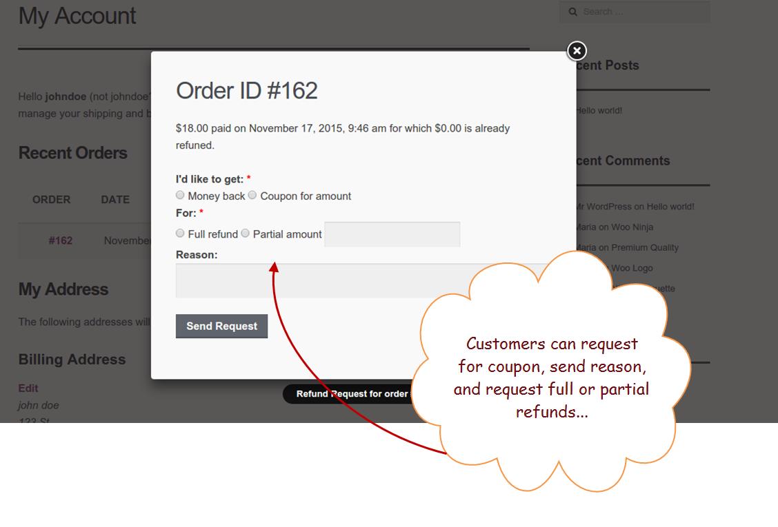 Woocommerce Order Refund Woocommerce Returns Plugin Refund